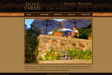 Homepage of Dove Frams Website