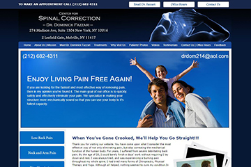 Homepage of Spinal Correction Website