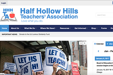 Homepage of Half Hollow Hills Website