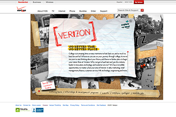 Homepage Verizon Careers Website